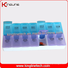 High Quality Travel Pill Case with 14-Cases (KL-9019)